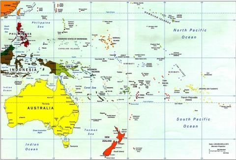 mappa_oceania_politica